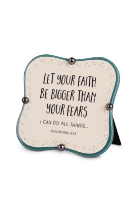 Plaque Ceramic Little Blessings Let Your Faith
