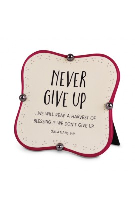 Plaque Ceramic Little Blessings Never Give Up