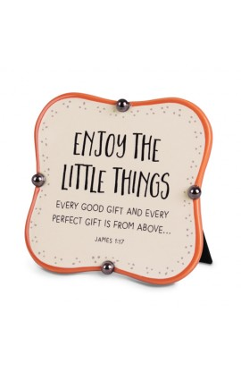 Plaque Ceramic Little Blessings Enjoy The Little Things