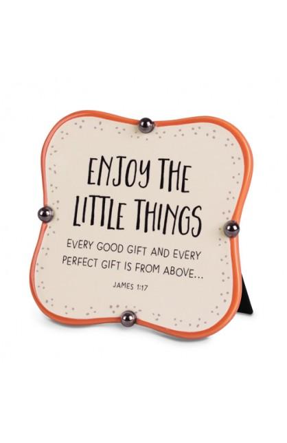 Plaque Ceramic Little Blessings Enjoy The Little Things