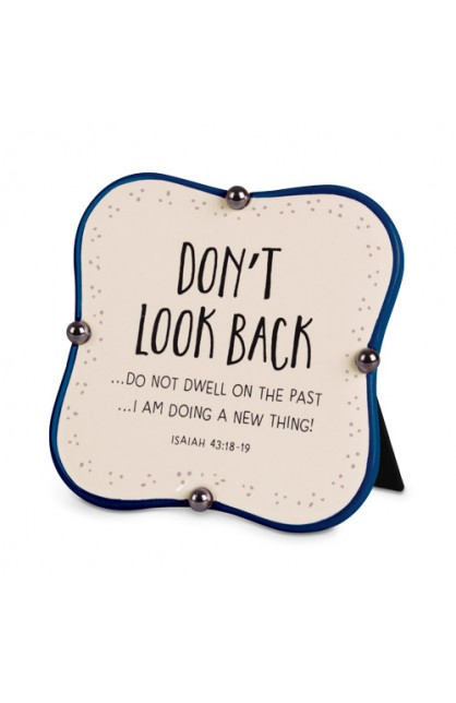 Plaque Ceramic Little Blessings Don't Look Back