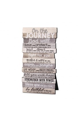 Plaque Wall/Desktop MDF Stacked Wood Journey 5 x 10