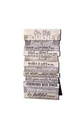 Plaque Wall/Desktop MDF Stacked Wood Journey 5 x 10