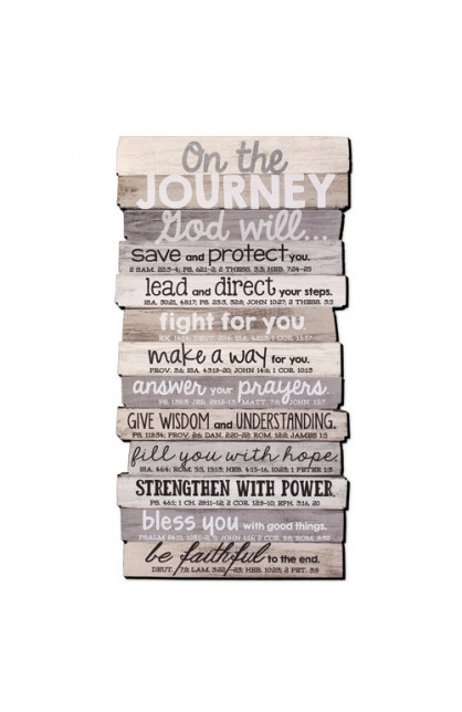Wall Décor MDF Medium Stacked Wood Journey 8 1/2 x