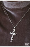 DAILY BREAD ARABIC CROSS NECKLACE