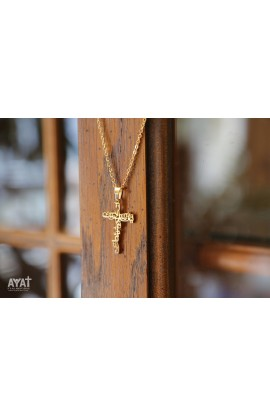 YOUR KINGDOM COME ARABIC CROSS NECKLACE (GOLD)