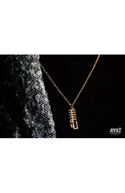 JESUS GEOMETRIC NECKLACE (GOLD)