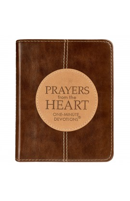 One-Minute Devotions: Prayers from the Heart LuxLeather Edition