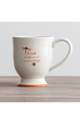 Crazy Friends Pedestal Mug