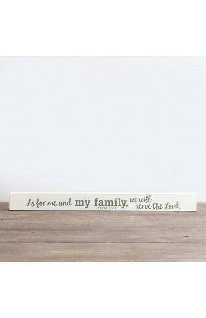 My Family Long Wood Block