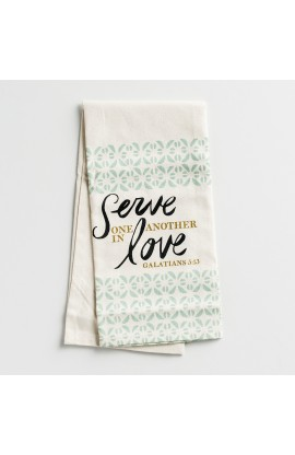 Tea Towel Serve One Another