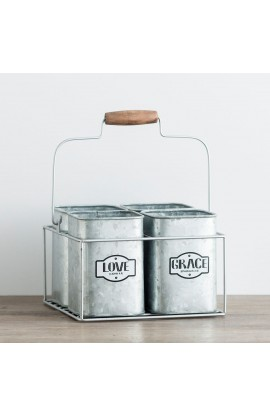 Faith Hope Metal Caddy
