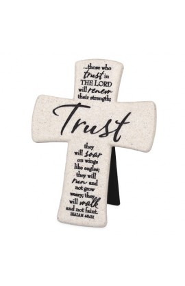 TRUST DESKTOP CROSS CAST STONE