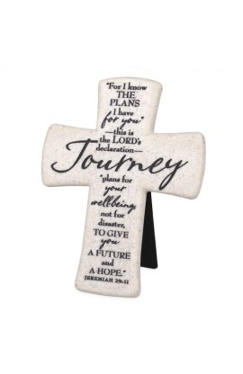 Cross Desktop Cast Stone Scripture Journey