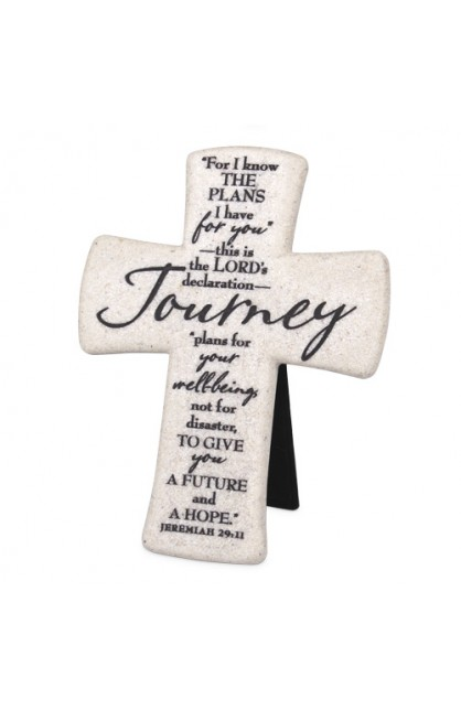 JOURNEY DESKTOP CROSS CAST STONE