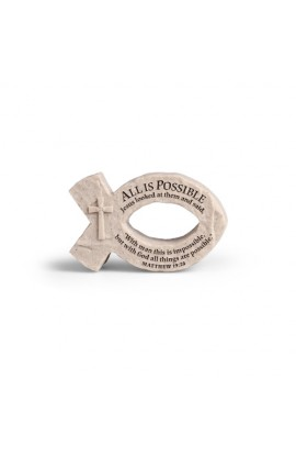 ALL IS POSSIBLE FISH CAST STONE
