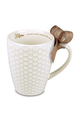 MOM TEXTURED BLESSINGS CERAMIC MUG