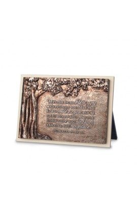 BLESS YOU TREE RECTANGLE CREAM PLAQUE SCULPTURE