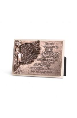 ANGEL CREAM RECTANGLE PLAQUE SCULPTURE