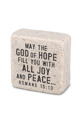 Plaque Cast Stone Scripture Stone Peace