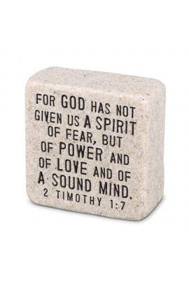 Plaque Cast Stone Scripture Stone Fearless