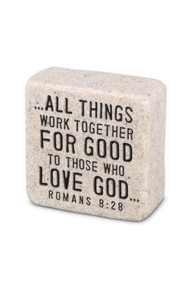 Plaque Cast Stone Scripture Stone Believe
