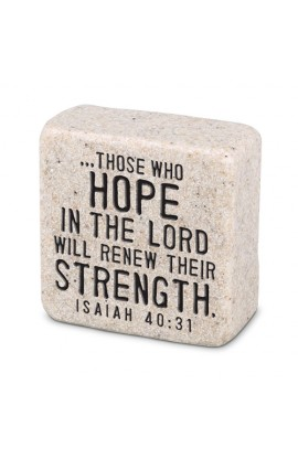Plaque Cast Stone Scripture Stone Hope