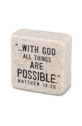 Plaque Cast Stone Scripture Stone Faith