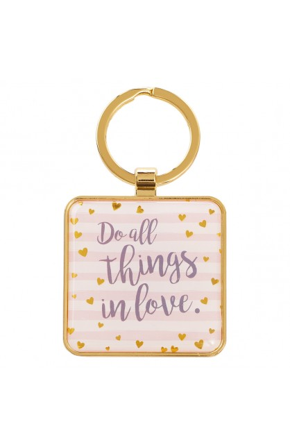 Keyring Metal Do All Things in Love