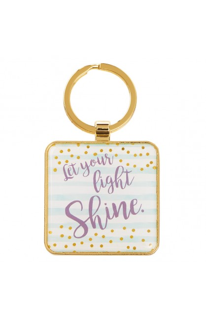 Keyring Metal Let Your Light Shine