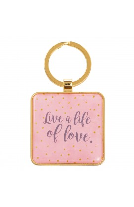Keyring Metal Live a Life of Love