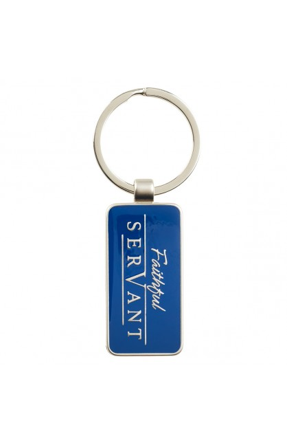Keyring in Tin Faithful Servant