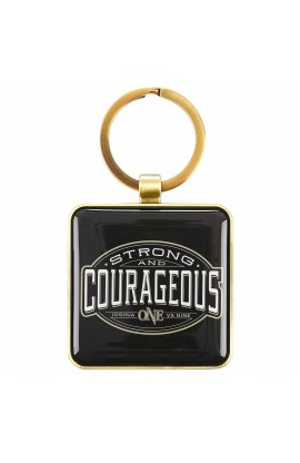 Keyring in Tin Strong & Courageous