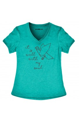 IT'S WELL WITH MY SOUL GRACE & TRUTH V-NECK T