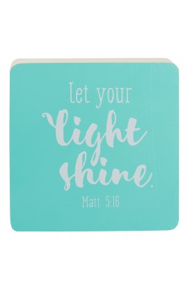 LET YOUR LIGHT SHINE DECOR BLOCK SM