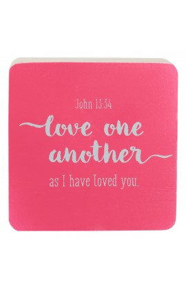 LOVE ONE ANOTHER DECOR BLOCK SM