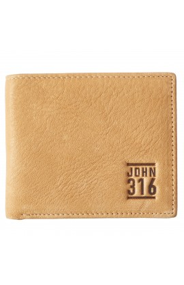 Wallet in Tin Leather John 3:16