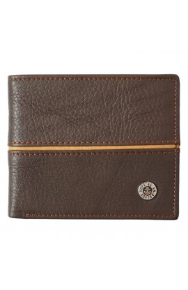 Wallet in Tin Leather Hope as Anchor