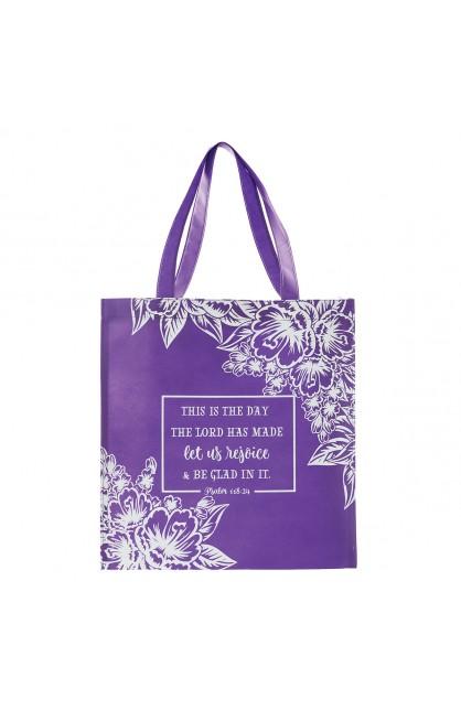 Tote, Purple Floral