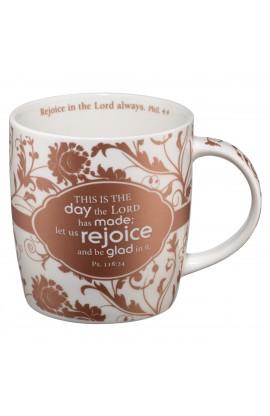 Ps 118:24 (Brown) Ceramic Mug