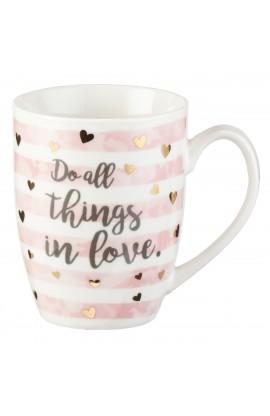 Mug Do All Things in Love