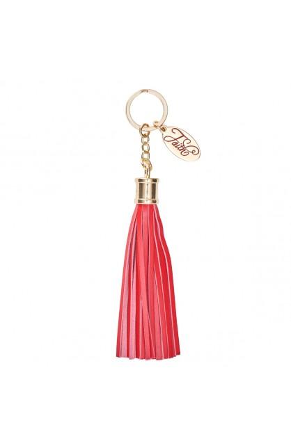 Keychain w/ Tassel Red