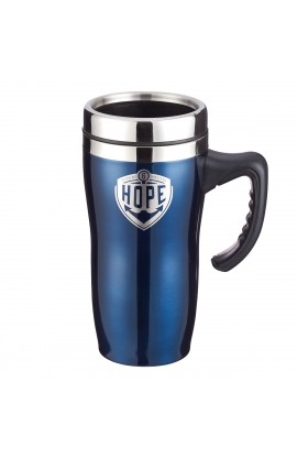 Mug SSteel Travel Hope Badge Blue Heb 6:19