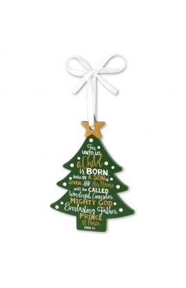 Christmas Ornament MDF Tree Jesus