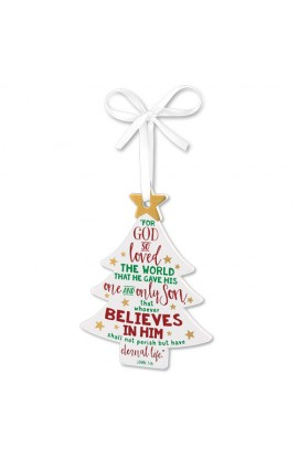 Christmas Ornament MDF Tree Believe