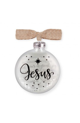 Christmas Ornament Glass Silhouette Jesus
