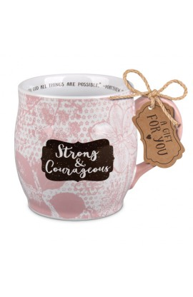 Ceramic Mug Pretty Prints Strong & Courageous