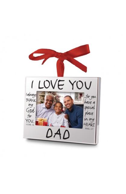Christmas Ornament Frame Silver I Love You Dad Ayat Online