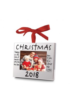 Christmas Ornament Frame Silver 2018