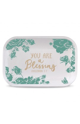 Tray Ceramic Rectangle Pretty Prints You Are A Blessing
